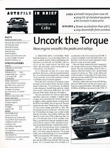 1998 mercedes benz c280 owners manual