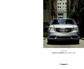 2015 chrysler town and country owners manual pdf