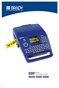 brady bmp71 label printer user manual