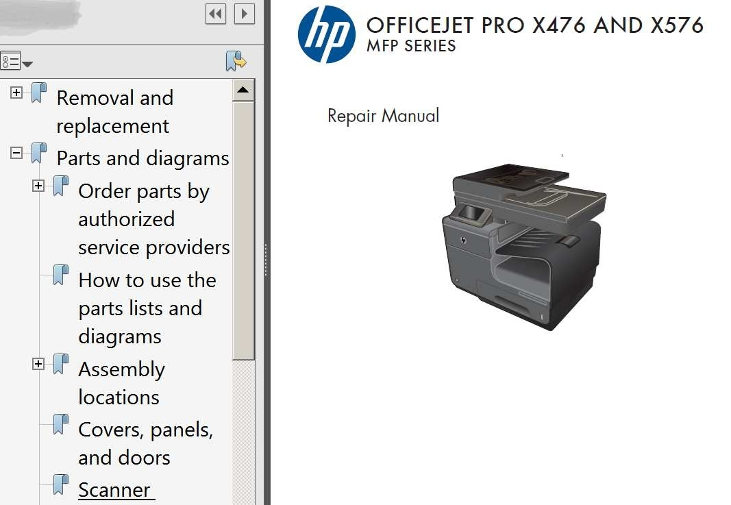 hp officejet 4500 service manual