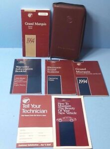 1989 mercury grand marquis owners manual