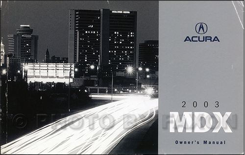 2003 acura mdx owners manual