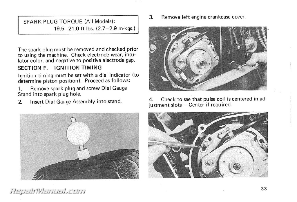 1975 yamaha dt400 owners manual