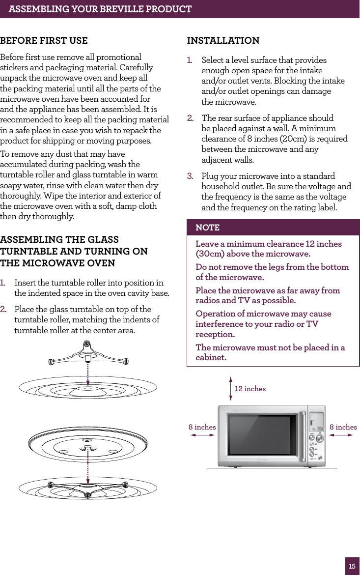 breville microwave oven user manual