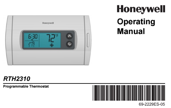 honeywell thermostat owners manual pdf