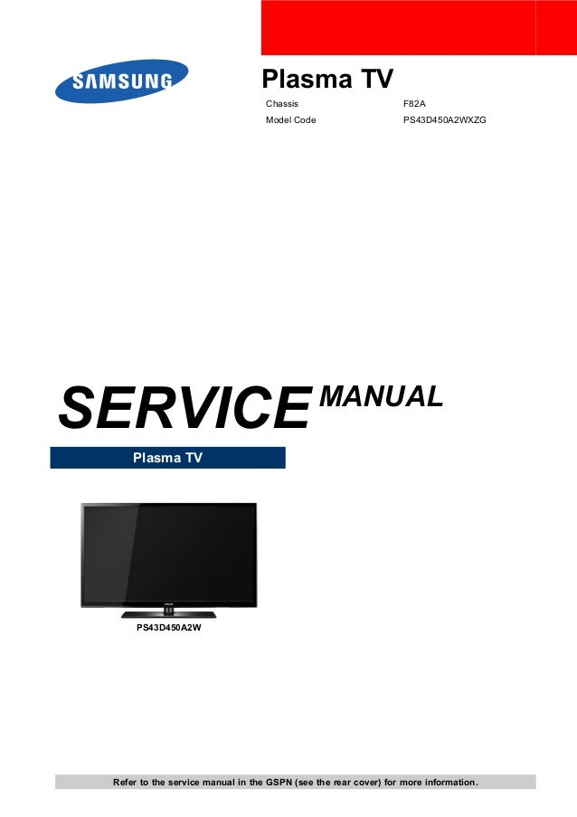 samsung ps we450 user manual